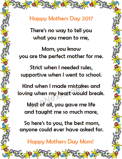 Mothers Day Poem from Daughter