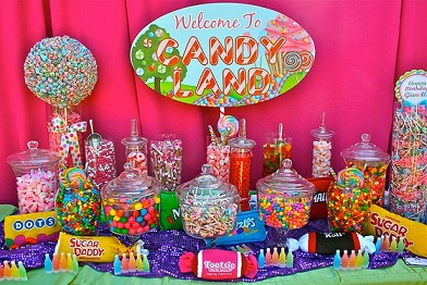 candyland themed teens birthday party