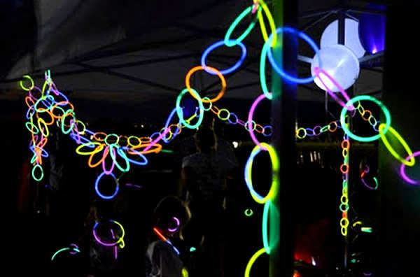 glow in the dark birthday party idea