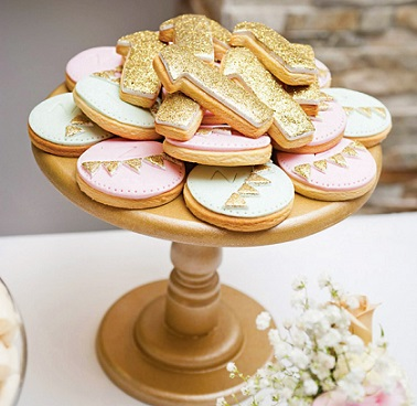 pink and gold glitter birthday party for girls