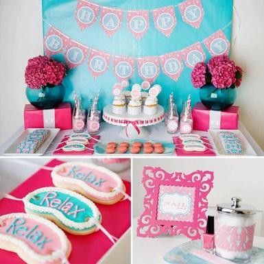 spa themed birthday party ideas