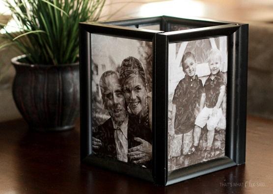Photo Frame Luminaries for Dad on Christmas
