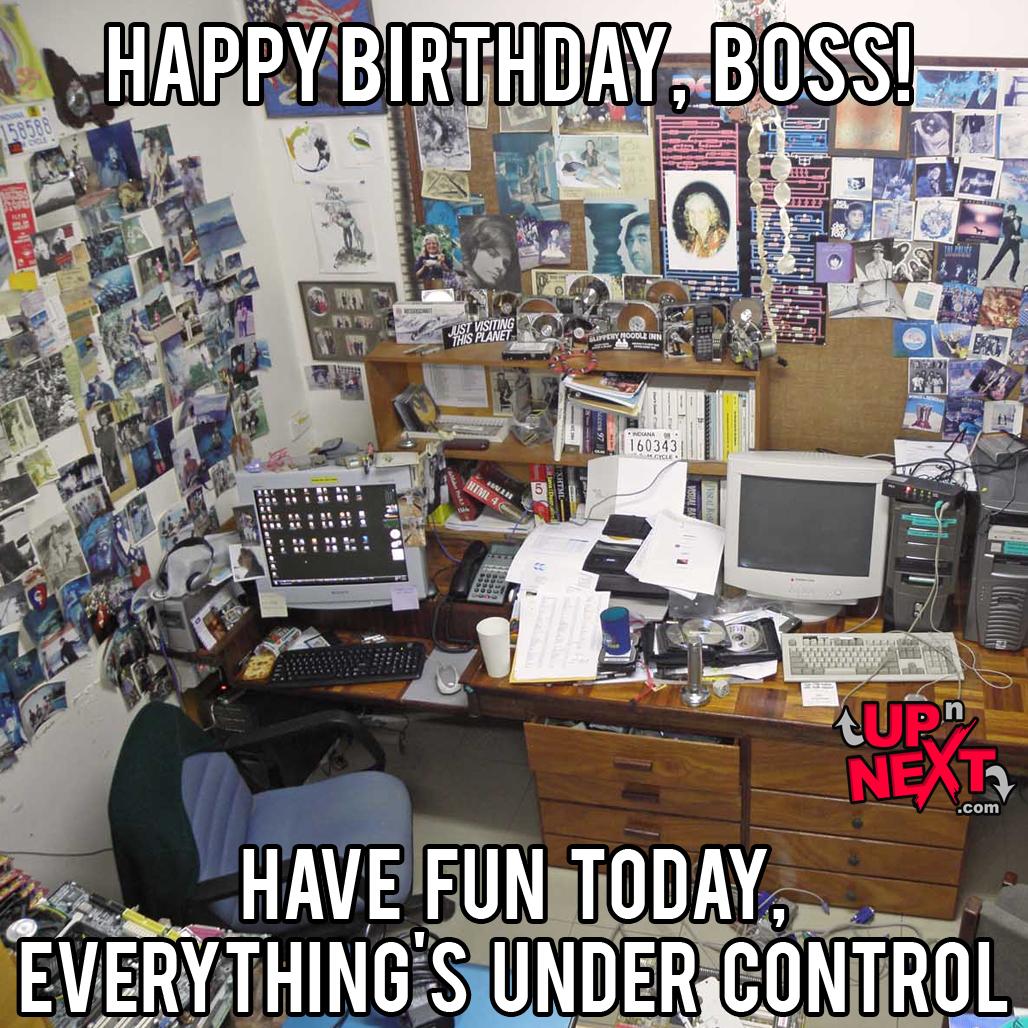 funny boss birthday meme