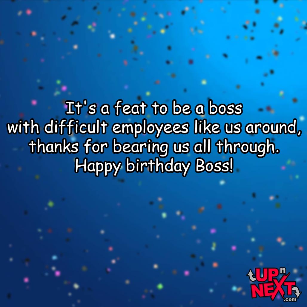 happy birthday wish to your boss