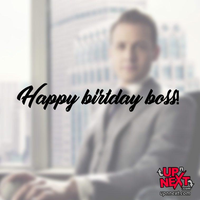 happy birthday boss man