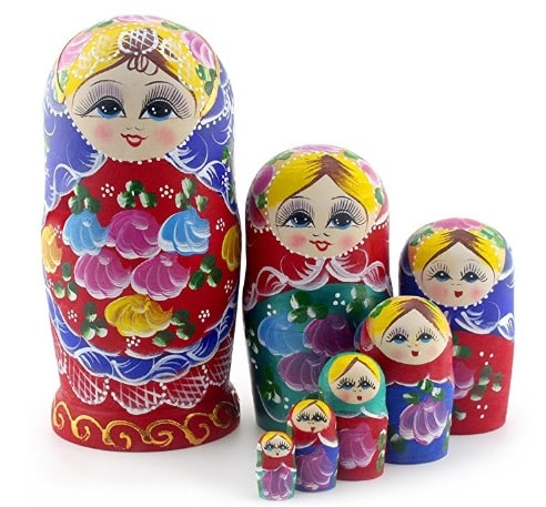 russian nested dolls for boyfriend's mom