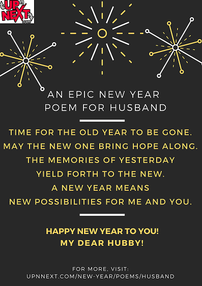 Happy New Year Poems for Husband from a Wife
